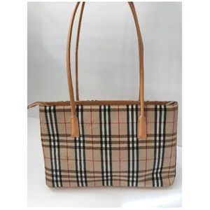 Handbags - Beige Plaid Purse - EUC